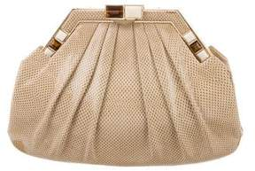 Judith Leiber Embossed Leather Evening Bag