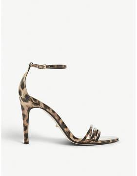Dune Marabella patent leopard-print heeled sandals