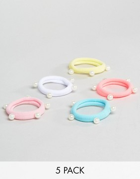 ASOS Pack of 5 Multi-COLORED Hairbands