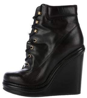 Marc by Marc Jacobs Leather Wedge Booties