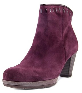 Gabor 75.791 Women Round Toe Suede Purple Ankle Boot.