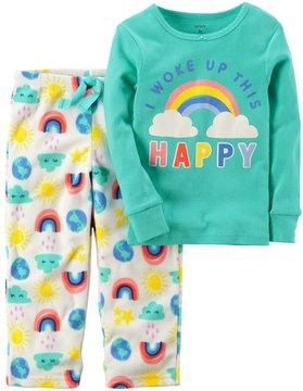Carter's Toddler Girl 2-pc. Top & Fleece Pants Pajama Set