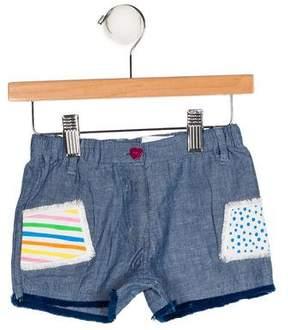 Agatha Ruiz De La Prada Girls' Appliqué Chambray Shorts
