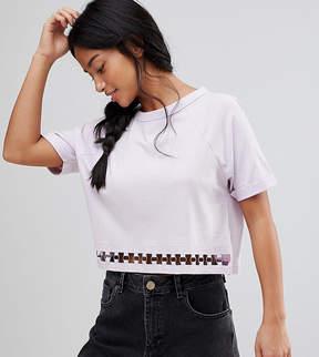 Brave Soul Petite T-Shirt with Ring Detail at Hem