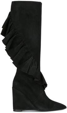 J.W.Anderson ruffled wedge boots