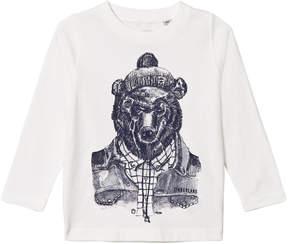 Timberland Kids White Montain Bear Print Tee