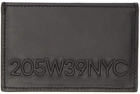 Calvin Klein Black Embossed Logo Card Holder
