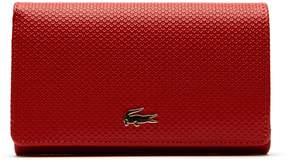 Lacoste Women's Chantaco Bicolor Pique Leather Six Card Wallet