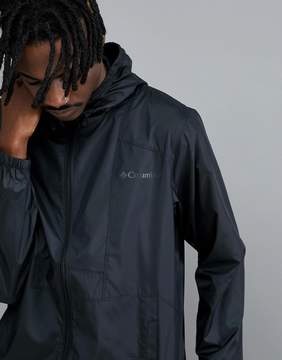 Columbia Flashback Hooded Windbreaker Jacket Lightweight in Black