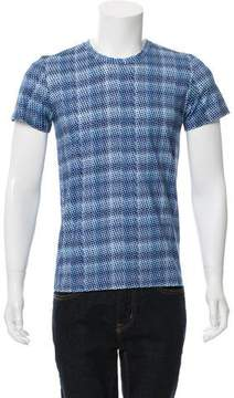 Calvin Klein Collection Bubble Print Crew Neck T-Shirt