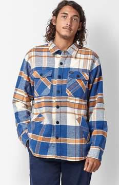 Brixton Durham Plaid Flannel Long Sleeve Button Up Shirt