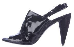 CNC Costume National Patent Leather Slingback Sandals