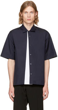 Marni Navy Panelled Sport Shirt