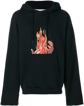 Off-White fire print hoodie