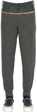 Kolor Flannel & Wool Jersey Jogging Pants