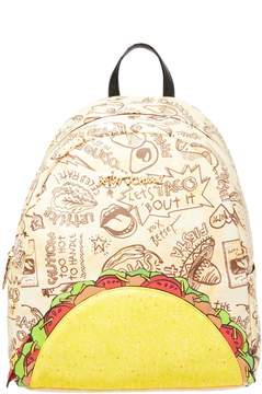 Betsey Johnson KITSCH LETS TACO ABOUT IT BACKPACK