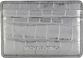 MICHAEL Michael Kors Jet Set Travel metallic cardholder - GREY - STYLE