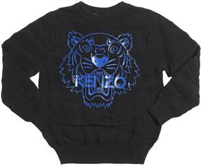 Kenzo Tiger Knitted Cotton & Wool Sweater