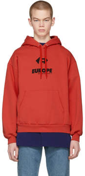 Balenciaga Red Europe Hoodie