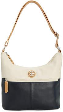 Giani Bernini Leather Bucket Colorblock Hobo, Created for Macy's