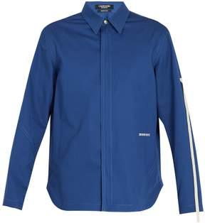 Calvin Klein Point-collar zip-through cotton-twill shirt
