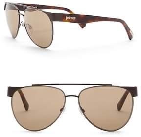 Just Cavalli Aviator 59mm Metal Sunglasses