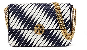 Tory Burch Chelsea Calf Hair Convertible Shoulder Bag - TWISTED STRIPE - STYLE