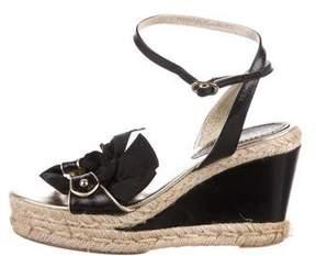 Loewe Leather Platform Wedge Sandals