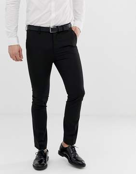 New Look Skinny Fit Suit Pants In Black