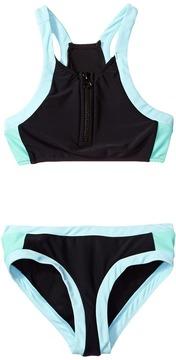 Seafolly Aztec Tapestry Zip Front Tankini Set Girl's Swimwear Sets