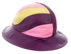 Emilio Pucci Leather Bucket Hat
