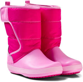 Crocs Candy Pink LodgePoint Snow Boot K