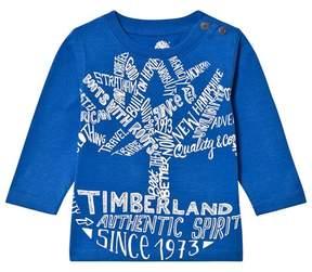 Timberland Royal Blue Tree Script Logo Tee