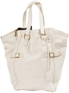 Saint Laurent Downtown leather tote - WHITE - STYLE