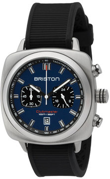 Briston Clubmaster Sport Chronograph Watch, Black/Navy