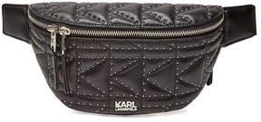 Karl Lagerfeld K/Kuilted Embellished Leather Belt Bag