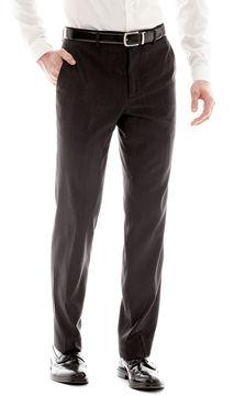 Jf J.Ferrar Men's JF Black Nailhead Slim-Fit Flat-Front Suit Pants