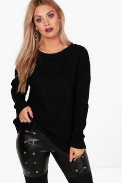 boohoo Plus Rebecca Slouchy Knitted Jumper