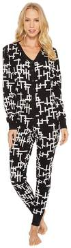 BedHead Long Sleeve Stretch Knit One-Piece Women's Jumpsuit & Rompers One Piece