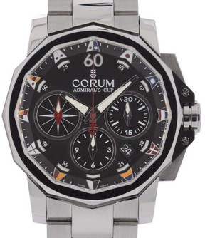 Corum Admirals Cup 743.691.20/V701 Chronograph Steel Automatic 44mm Mens Watch