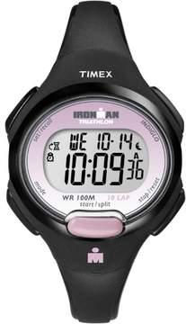 Timex Women's Ironman Essential 10 Mid-Size Watch, Black Resin Strap