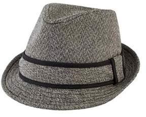 San Diego Hat Company Men's Tweed Fedora With Contrast Trim Sdh9443.