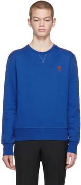 Ami Alexandre Mattiussi Blue Logo Sweatshirt