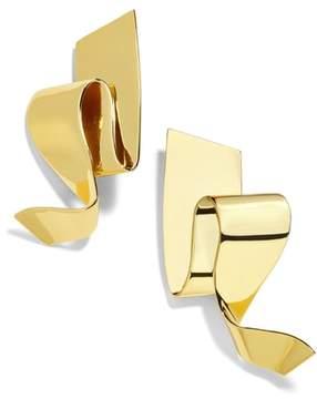 BaubleBar Nareh Metal Ribbon Drop Earrings