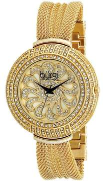 Burgi Gold-tone stainless steel Ladies Watch