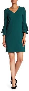 Tahari Bell Sleeve Sheath Dress