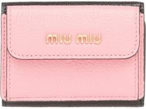 Miu Miu colour block billfold wallet