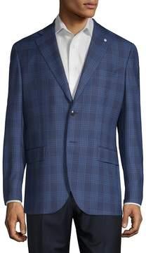 Lubiam Men's Glen Check Wool Sportcoat