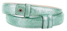 Jimmy Choo Metallic Leather Belt