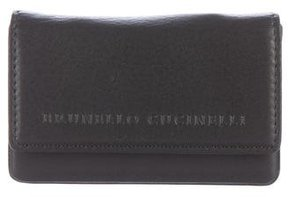Brunello Cucinelli Leather Flap Card Holder